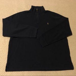 Polo Ralph Lauren Navy Blue Half Zip Sweatshirt